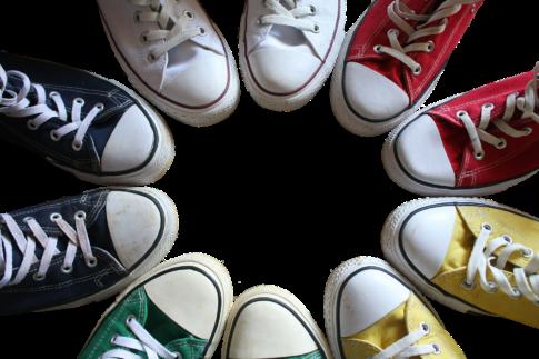 向井康二,靴,スニーカー